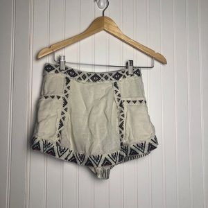 Free people white boho mini skort